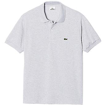 Lacoste-Baumwolle Polo-Shirt, Silber Chine, X-Large