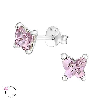 Butterfiy crystal from Swarovski® - 925 Sterling Silver Ear Studs - W38034X