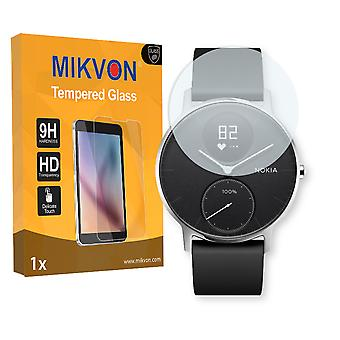 Nokia Steel HR 40mm Screen Protector - Mikvon flexible Tempered Glass 9H (Retail Package with accessories)