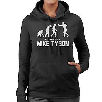 Evolution Of Mike Tyson Women's Hooded Sweatshirt