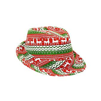 Adults Fun Christmas Jumper Print Trilby Style Hat