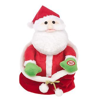Мастерская Рождество, скрывая плюшевые Санта в Giftbag рождественские украшения анимированная