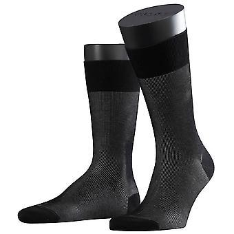 Falke-bildenden Schatten Socken - schwarz/grau