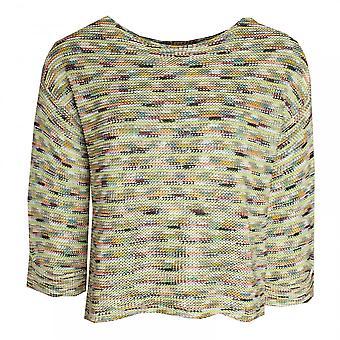 Oui Multi Colour Long Sleeve Knit Jumper