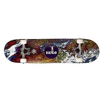 Ridge Skateboards konkave Skateboard - stilisierte Ridge graphische Unterseite, 31 Zoll