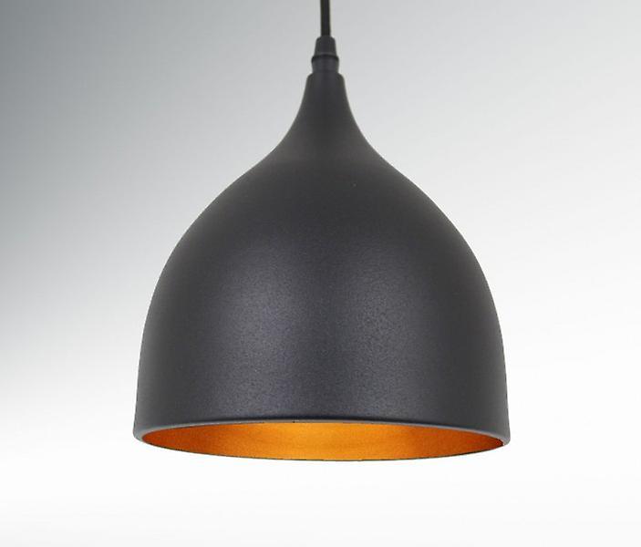 Pendant luminaire Timao P3 3x17cm Ø metal matte black & copper 10587
