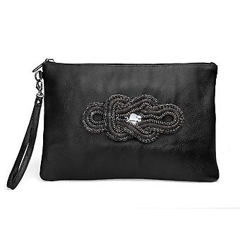 Oliver Weber Clutch Chain Real Leather Black