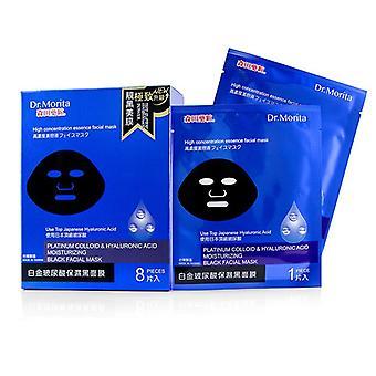 Dr. Morita Platinum Colloid & hyaluronzuur hidratatie zwarte gezichtsmasker - 8ST