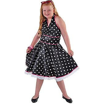Children's costumes  Rock n roll dress with dots for girls