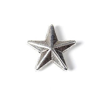 Paquete 20 x antiguos plata tibetana 12 x 13mm abalorios estrella HA17725
