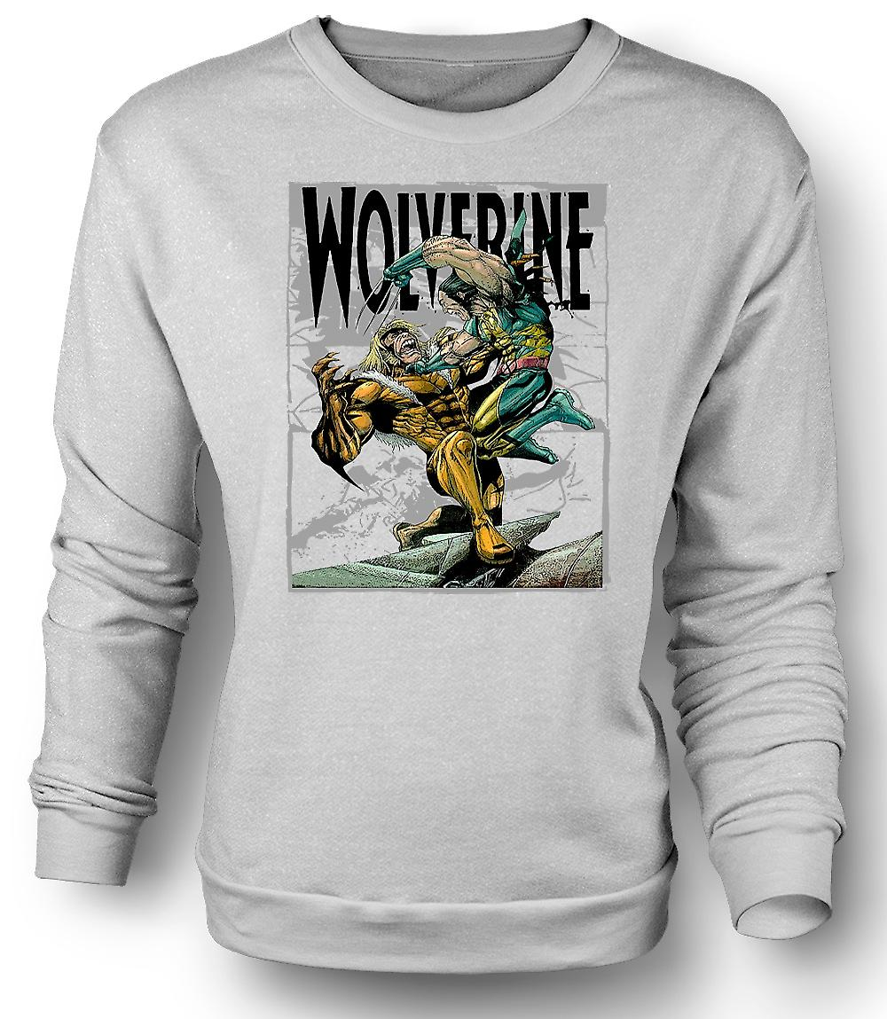 Mens Sweatshirt Wolverine vs Victor - Cartoon