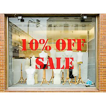 10% Off Sale Shop Vinyl Window Wall Sticker