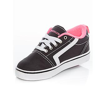 Heelys Black-White-Pink GR8 Pro Girls One Wheel Shoe