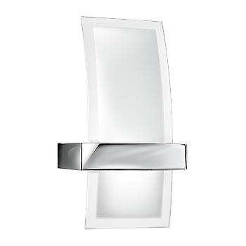 Searchlight 5115 Contemporary Halogen Glass and Chrome Wall Light