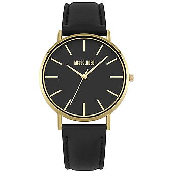 Missguided | Ladies | Black Leather Strap Black Dial | MG017BG Watch
