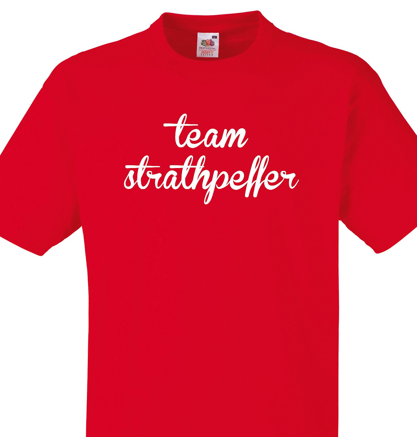 Team Strathpeffer Red T shirt