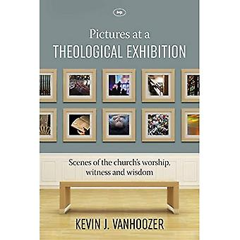 Foto's op een theologische tentoonstelling: scènes van aanbidding, de getuige en de wijsheid van de kerk