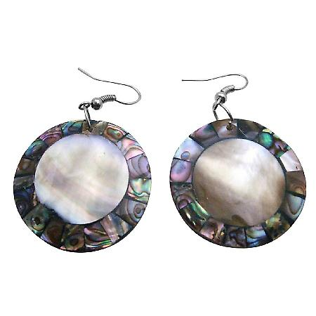 Shell Fashion Jewelry Shell Earrings Natural Inexpensive Shell Abalone