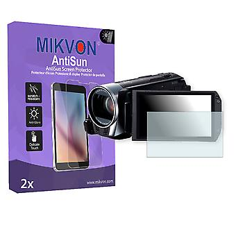Canon Legria HF R38 Screen Protector - Mikvon AntiSun (Retail Package with accessories)