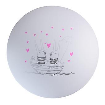 Glasberg - vita barns Led infälld taklampa med tryckta båt Design 365015901