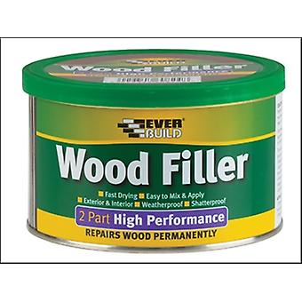 Everbuild Wood Filler hoge prestaties 2 deel Medium Stainable 500g