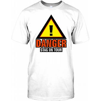 Danger Stag On Tour - Funny Stag Do Kids T Shirt