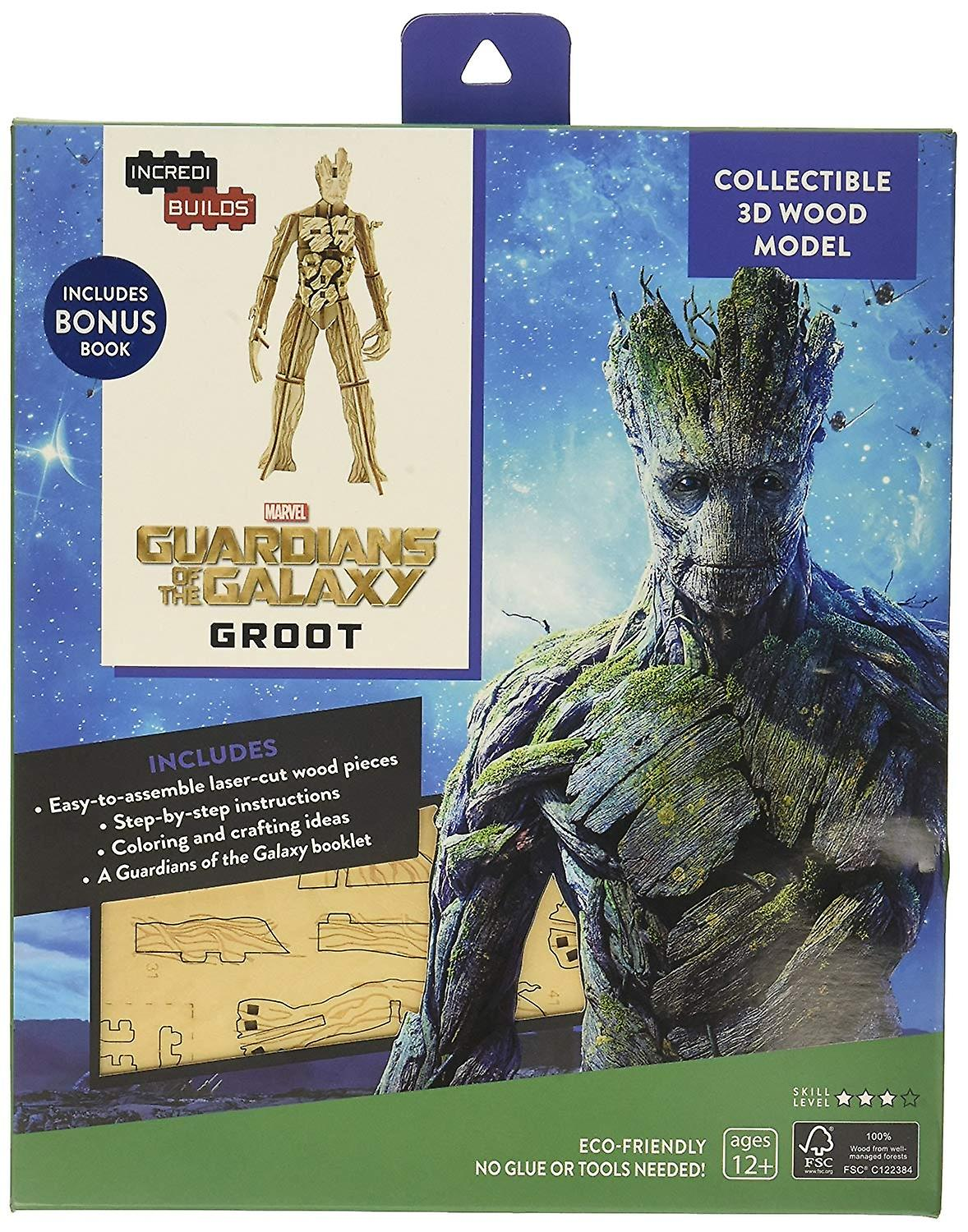 IncrediBuilds Marvel Guardians of The Galaxy: Groot 3D Wood Model and Book