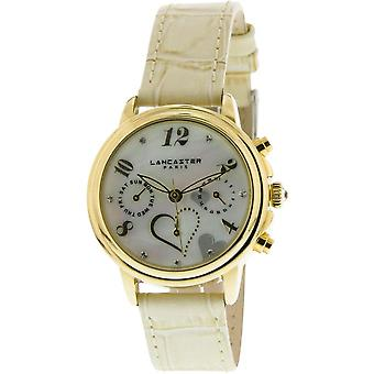 Lancaster watch watches MEZZO LPW00356 - watch MEZZO leather white woman