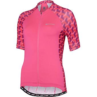 Madison Pink Glo-Geo Camo 2018 Sportive Womens Short Sleeved Cycling Jersey