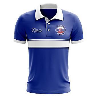 Słowacja koncepcja koszula Polo z paskiem (niebieski)