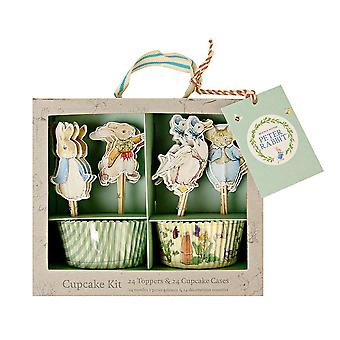 Peter Rabbit Cupcake Kit Cases and Toppers 24 cake cases and 24 toppers