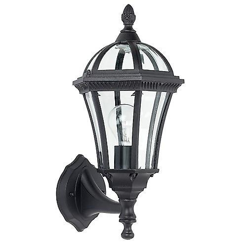 Endon YG-3500 Stylish Traditional Black Aluminium Outdoor Up Wall Lantern