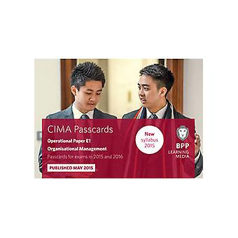 CIMA E1 Organisational Management - Passcards - Operational paper E1 by