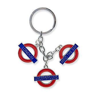 London underground roundel encantos cadena de plata llavero (GWC)