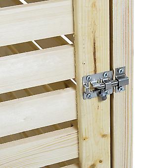 Charles Bentley Double Wooden Bin Store Wheelie Bin Aufbewahrungseinheit Lifting Deckel