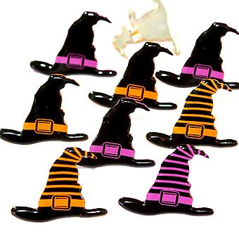 Broderie anglaise prise forme Brads 12/Pkg-Witch chapeaux QBRD2-19