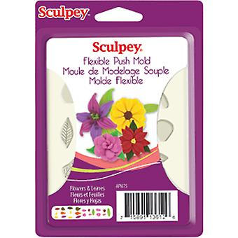 Sculpey Flexible Push Mold Flowers & Leaves Apm 75