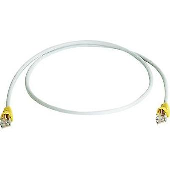 RJ45 (cross-over) redes Cable CAT 6A S/FTP 1 m gris ignífugo, retén incl. Telegärtner
