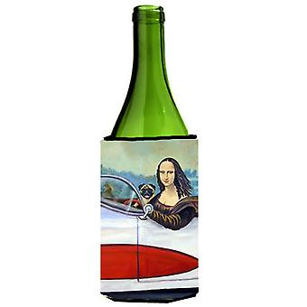 Fawn Pug and Mona Lisa Wine Bottle Beverage Insulator Beverage Insulator Hugger