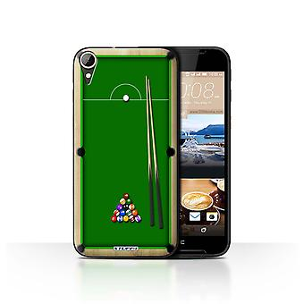 STUFF4 Case/Cover for HTC Desire 830/Pool/Billiards Green/Games