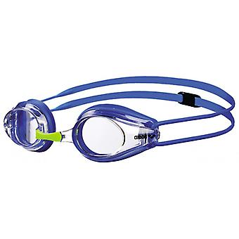 Arena Tracks Junior Swim Goggle - Clear Lens - Blue Frame