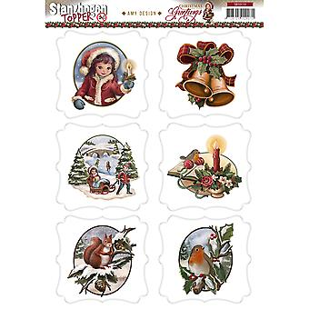 Find It Trading Amy Design Topper Sheet-Christmas Greetings SB10110