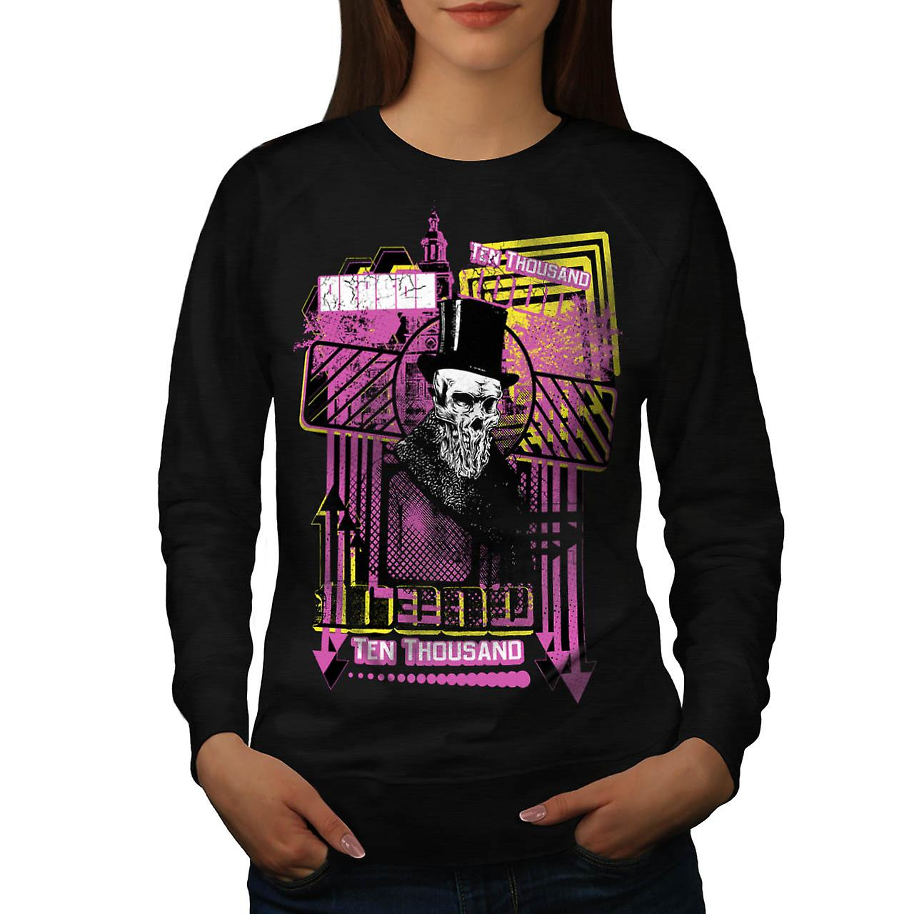 Reason For Death Gent Haunted Women Black Sweatshirt | Wellcoda