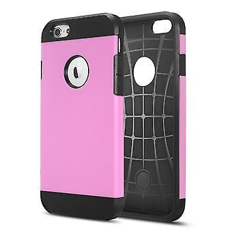 Täcka 1 2:00 pm Ultra-durable TPU och hårdplast för iPhone Plus 5,5 6 (rosa)