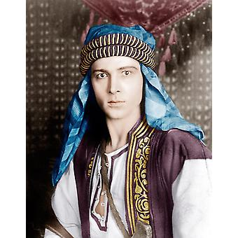 Den Sheik Rudolph Valentino 1921 fotoutskrift