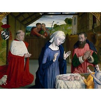 The Nativity by Jean Hey  France  Autun  Musee Rolin Poster Print