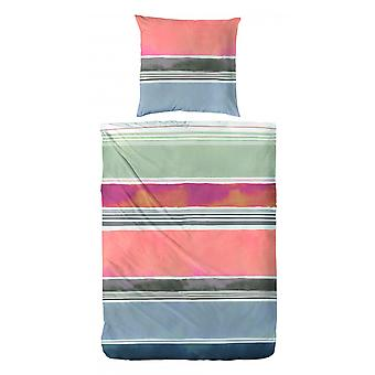 COCK Percale linned stribe multicolor 135 x 200 cm