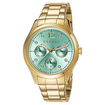 ESPRIT ladies watch bracelet watch Tracy green stainless steel gold ES106702008