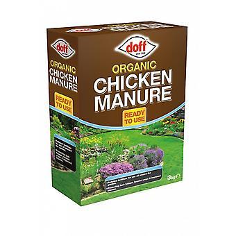 Økologisk kylling gødning granuleret gødning 3kg