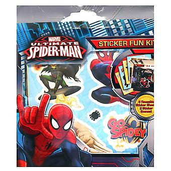 Ultimate Spiderman Sticker Fun Kit Christmas Childrens Stocking Filler Xmas